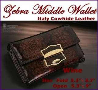 Wallets Trifold Wallet Card Case Italy Leather Clutch Wallet Zebra
