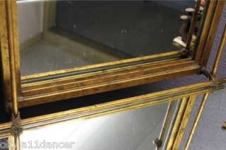 Vtg Italian Metal Tole Hollywood Regency gold elegant vanity bench