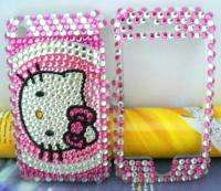 hot pink Rhinestone hello kitty cat handicraft full case for Apple