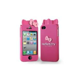Sanrio Hello Kitty Iphone 4 Hard Cover with Ears (Pink