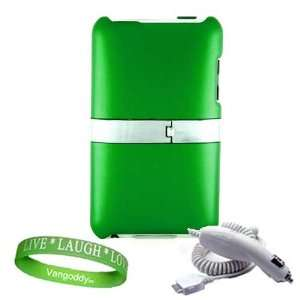 Stand ** GREEN ** + Ipod ITouch Car Charger + Live * Laugh * Love