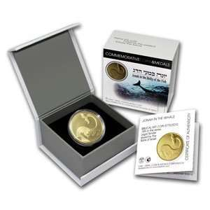 2010 Israel Jonah in the Whale 1/2 oz Proof Gold Coin w