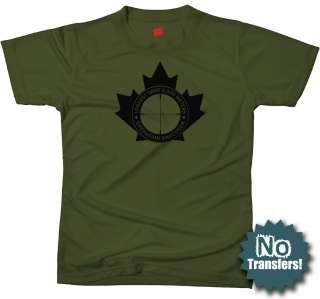 LONGEST SHOT Canadian Sniper army military New T shirt |