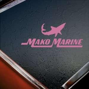 Mako Sharks Pink Decal BOAT CRUISER Truck Window Pink