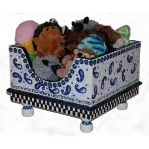 Blue Willow Hand Painted Toy Box