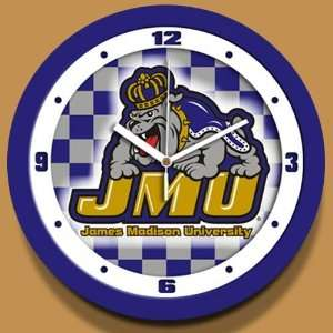 James Madison Dukes Dimension Wall Clock Sports