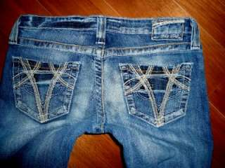 Buckle Big Star Sweet Ultra Low Rise Stretch Bootcut Jeans euc 28x33