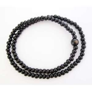 Black Wood Beads Tibetan Buddhist Prayer Japa Mala Necklace Jewelry