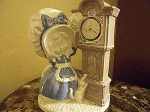 Vintage Linden Black forest Clock & Pauline Figurine