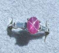 LINDE LINDY STAR RUBY CREATED SAPPHIRE RED STAR RING