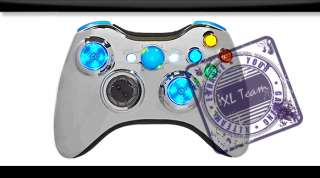 auto aim xcm chrome controller shell led lit analog sticks and buttons