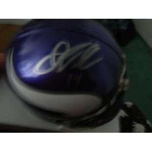 Joe Webb Autographed Mini Helmet   COA   Autographed NFL