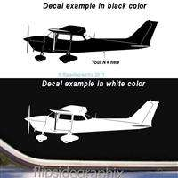 Cessna 172 Late Model Airplane Pilot Decal Wall Sticker SK CA 16