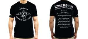 Emerson Knives Shirt   Warrior Commandments