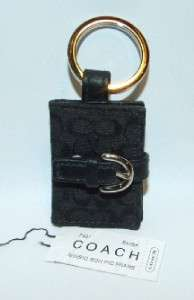 Coach Signature Black Picture Photo Frame Key Chain Key Ring