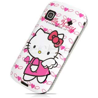 PINK & WHITE HELLO KITTY ANGEL WINGS HARD BACK CASE FOR SAMSUNG GALAXY