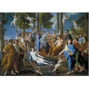 N. Poussin Le Parnasse Jigsaw Puzzle 8000pc Toys & Games
