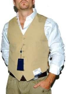 Polo Ralph Lauren Mens Dress Tuxedo Suit Vest Khaki 40R