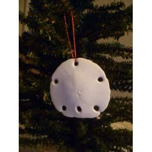 White Sanddollar Christmas Ornament Seashell Everything