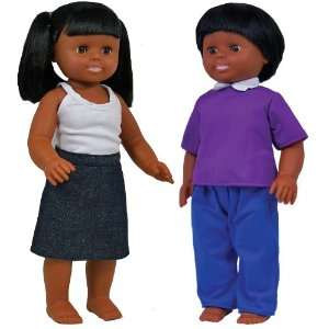 African American Boy and Girl Doll Set Toys & Games
