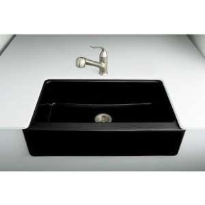 Kohler k 6546 4u y2 dickinson apron front undercounter kitchen sink with four hole oversized - Kohler dickinson apron front sink ...