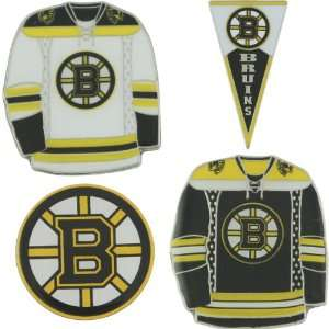 Jf Sports Boston Bruins 4 Pack Lapel Pins