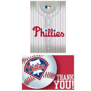 By Amscan Philadelphia Phillies Baseball   Invite & Thank You Combo