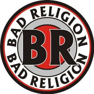 BAD RELIGION PUNK ROCK MUSIC LOGO VINYL DECAL BUMPER STICKER 5 X 5