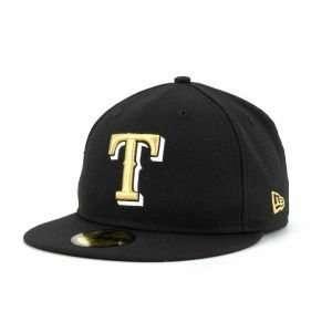 b1b2b41c465 Texas Rangers New Era 59FIFTY MLB Blackout II Cap Hat on PopScreen