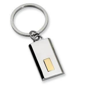 Stainless Steel 24k Gold plating Key Chain   JewelryWeb Jewelry