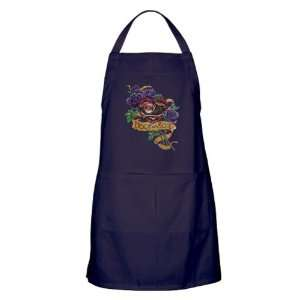 Apron (Dark) Heart and Soul Roses and Motorcycle Engine