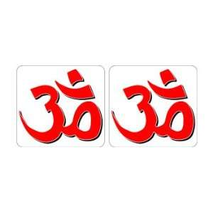 Om Aum Yoga Symbol Sheet of 2   Window Bumper Sticker