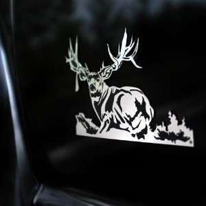 Non Typical Mule Deer Laying Down Truck Emblem: Automotive