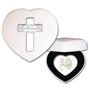 Precious Moments First Communion Girl Ivory Mini Heart