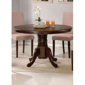 47 Round Wood Espresso Dining Table