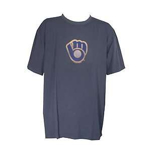 Milwaukee Brewers Majestic Big and Tall Big Play Vintage Logo T Shirt