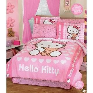 Hello Kitty Smile Girls Pink Comforter Bedding Set Twin 6pcs