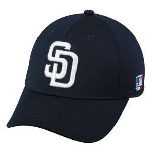 BAMBOO Flex FITTED Lg/XL San Diego PADRES Home NAVY White SD Hat Cap