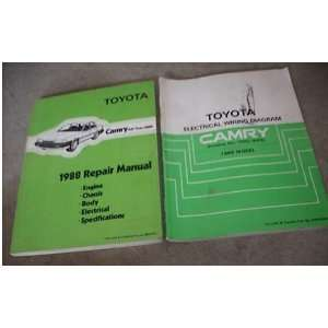 1988 Toyota Camry ALL TRAC Service Repair Manual Set 88