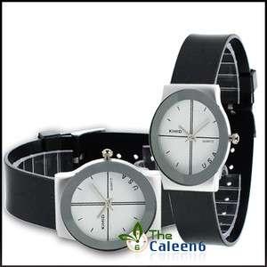 Design Coupl Woman Men Quartz Wrist Watch Fashion 2 Colors 1425