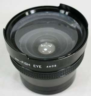 FIVE STAR SEMI FISH EYE Camera LENS # 4608 52mm with Caps & Padded
