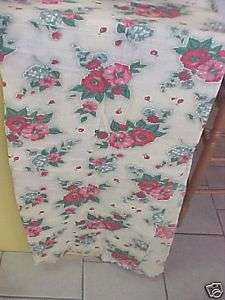 FABRIC, VINTAGE TEXTURED FLORAL, YELLOWS AND REDS 40S