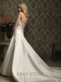 2012 new white ivory Wedding Dresses Bridal Gown dress Custom SZ2  28
