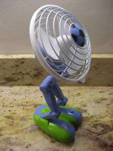 Desk Fan Battery Operated Flexible Positions + USB Port
