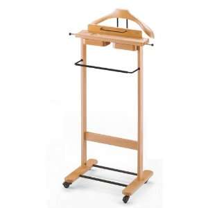: Aris 113 N Natural Wood Valet Stand With Tray 113 N: Home & Kitchen