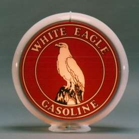 WHITE EAGLE GASOLINE GAS PUMP GLOBE SIGN 13.5 SIGNS W
