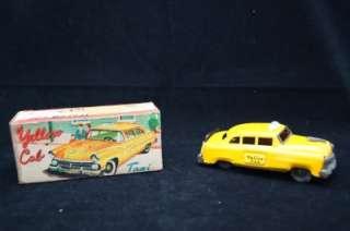 1940S   1950S ASC AUSHIN JAPAN YELLOW TAXI CAB & ORIGINAL BOX