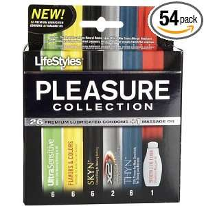 Lifestyles Pleasure Collection Condoms 27 Ct (54 Items   2