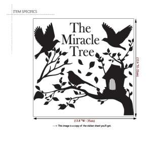 MIRACLE TREE ★ Black Wall Graphic Sticker Vinyl Decals