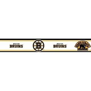 NHL Boston Bruins   Boys Hockey Decor Wallpaper Border Roll